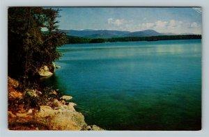 NH- New Hampshire, Shoreline Lakes Region,  Bucolic Scenery, Chrome Postcard