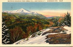 New York Adirondacks Lake Placid Whiteface Mountain From Cobble Hill 1940 Cur...