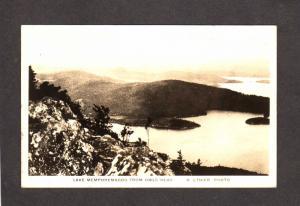 VT Lake Memphremagog Owls Head Newport Vermont Magog Quebec RPPC Photo Postcard