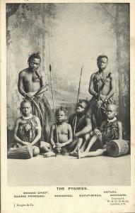 Pygmy Chief Bokane, Princess Kuarke, Mongonga Mafutiminga Matuka Amuriape 1906
