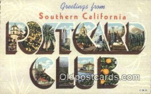 Southern CA, USA Large Letter Town Unused