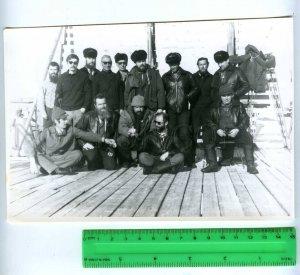 229289 Soviet Antarctic Station Molodezhnaya personnel photo