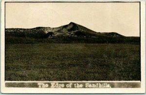 Nebraska RPPC Photo Postcard The Edge of the Sandhills 1909 ORO NEB. Cancel