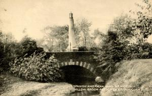 CT - New Britain. Willow Brook Park. Spanish American War Memorial