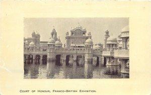 Postcard exhibitions Court of Honour Franco-British exhibition palace temple