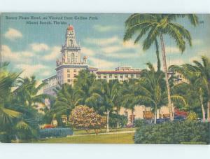 Linen RONEY PLAZA HOTEL Miami Beach Florida FL B2802