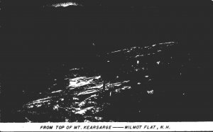 New Hampshire Wilmot Flat From Top Of Mt Kearsarge 1951 Real Photo