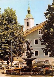 Miebach Oberbayern Michaelsbrunnen Fountain Auto Vintage Cars