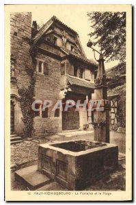 Postcard Old Hochk?nigsburg the fountain and the Forge