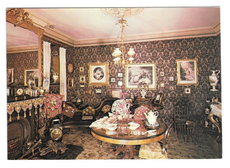 UK York Castle Museum Victorian Parlour Best Wishes Greeting Card Postcard Size