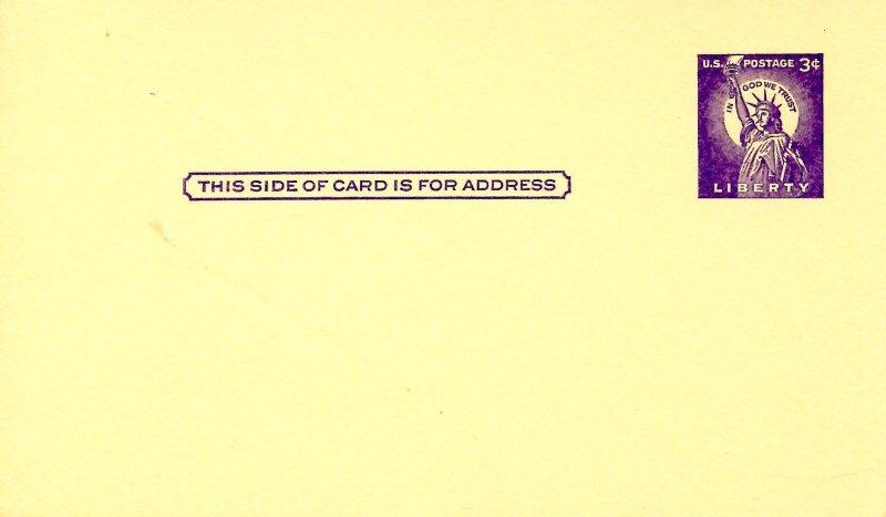 U. S. Postal Card, UX46. Statue of Liberty 3¢
