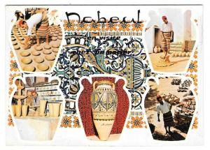 Africa Tunisia Nabeul Pottery Makers Multiview 4X6 Postcard