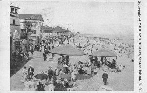 Staten Island New York Midland Beach Scenic View Vintage Postcard JJ658950