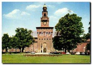 Italy Italia Milano Modern Postcard Castello Sforzesco