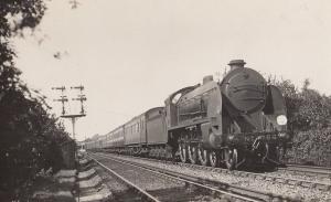 LSWR Sir Geriant Down Continental 4-6-0 Class Train at Orpington RPC Postcard
