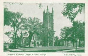 WILLIAMSTOWN, Massachusetts, 1940-50s; Thompson Memorial Chapel,Williams College