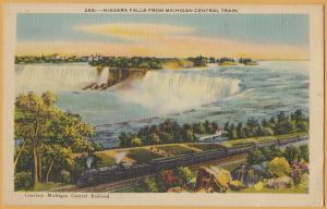 Niagara Falls from Michigan Central Train, Courtesy Card Michigan Central RR