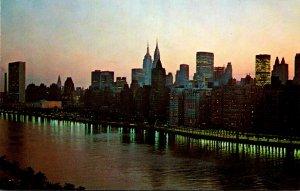 New York City Mid Town Manhattan From The Queensboro Bridge