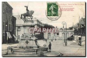 Old Postcard Nancy Statue of Rene II Palace of Government