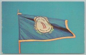 Frankfort Kentucky~State Flag~Bluegrass State~Vintage Postcard