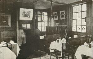 London UK Interior, Cosy Corner of Chop Room~Cheshire Cheese Pub~1910 Postcard