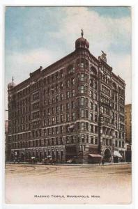 Masonic Temple Minneapolis Minnesota 1910 postcard