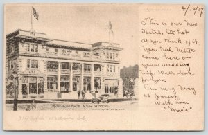 Monmouth Illinois~Our New Hotel~Architects Drawing~1907 WH McQuiston & Son PC