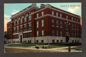 NH New High School CONCORD NEW HAMPSHIRE Postcard PC