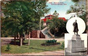 Colorado Springs CO Stratton Park Postcard unused 1920s