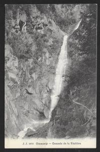 Waterfall Chamonix Cascade de la Blaitiere SWITZERLAND Unused c1910s