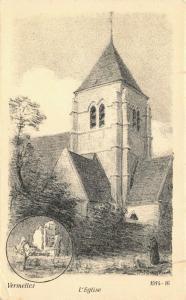 Art Postcard Vermelles L'Eglise 1914-16 by A. Mayeur 89U