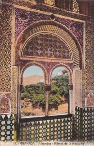 Spain Granada Alhambra Ajimez de la Mezquita
