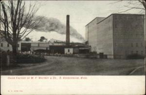 South Ashburnham MA Chair Factory WF Whitney Co c1910 Postcard