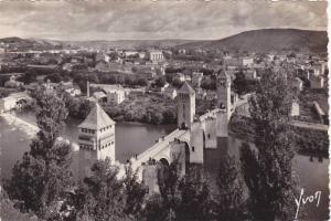 RP; CAHORS, Le Pont Valentre (XIV s.) et les rives du Lot, France, 10-20s