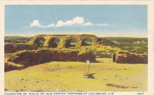 Casemates of Wals of Old French Fortress of Louisburg, Cape Breton, Nova Scot...