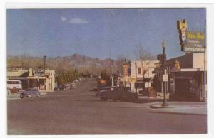 Arizona Street Cars Boulder City Nevada 1950s postcard
