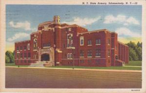 Schenectady NY, New York - NY State Armory - pm 1954 - Linen