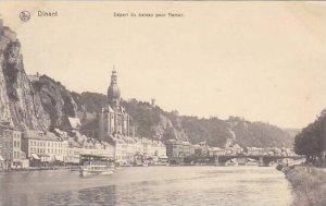 Belgium Dinant Depart du bateau pour Namur