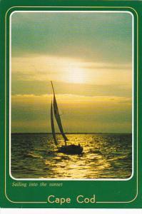 Sailing Into The Sunset Cape Cod Massachusetts