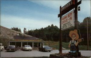 St. Johnsbury VT Comstock's Farm Boy Drive-In Restaurant Route 5 Postcard