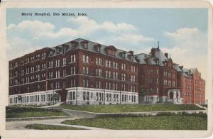 DES MOINES IOWA - MERCY HOSPITAL 1920s view