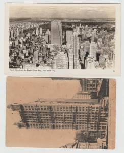 NYC NEW YORK CITY LOT OF 2 PARK ROW Building RPPC VIEW Postcard