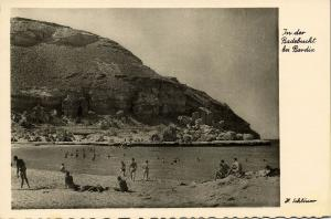 libya, BARDIA, EL BURDI, Beach Scene (1940s) H. Schlösser Photo