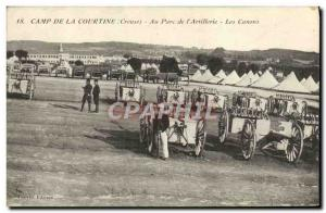 Old Postcard Camp De La Courtine At Park From & # 39Artillerie Guns Army