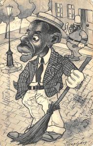 Belgrade Serbia 1907 Original Black Art Work Signed Thisgberg? Postcard