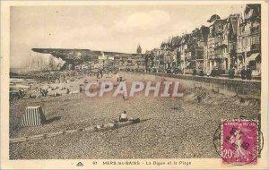 Old Postcard Mers-les-Bains and La Digue Beach