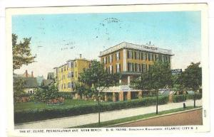 Pennsylvania Ave, showing The St.Clare, Atlantic City, New Jersey,  PU-1929
