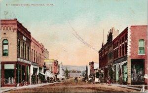 Pocatello Idaho Center Street Gate City Furniture c1909 Mitchell Postcard G9