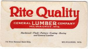 Rite Quality Lumber, Milwaukee Wis