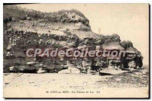 Postcard Old Lion sur Mer Luc Cliffs